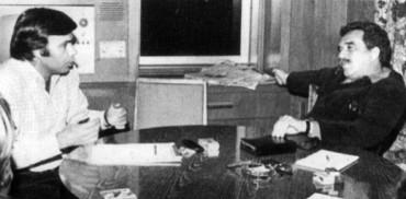 ΓΓΜ παίρνει συνέντευξη από τον Φελίπε Γκονσάλες στην Μπογκοτά, 1977. (Alternativa)