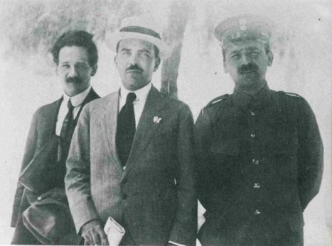 Αλ. Δελμούζος, Δημ. Γληνός, Μ. Τριανταφυλλίδης (1915)