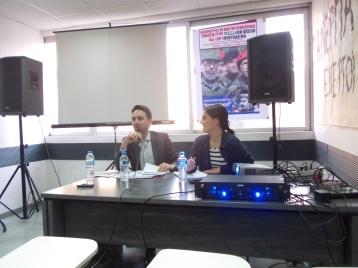 Farid Fernandez και Χρυσάνθη Παρτσανάκη (στη μετάφραση)@Lefteria