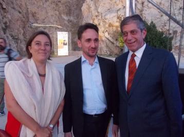 ο Πρέσβης Farid Fernandez μέ τον πρέσβη της παλαιστινιακής αρχής Marwan Toubassi